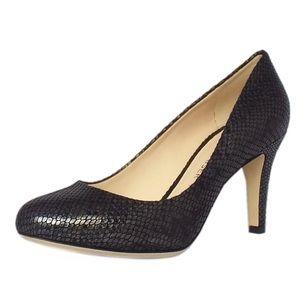 EUC Peter Kaiser Black leather heels size 7.5